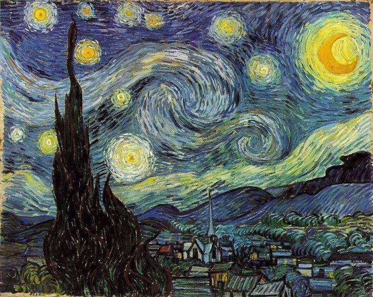 Винсент Ван Гог создал свою знаменитую картину «Звездная Ночь» во время пребывания в психиатрической ...