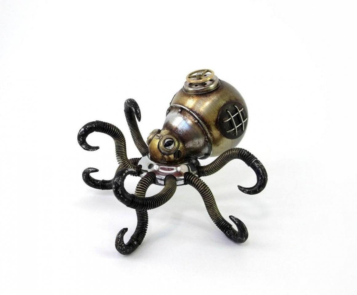 Игорь Верный — талантливый стимпанк-скульптор из Красноярска. Создает зрелищные работы из авто ... - 10