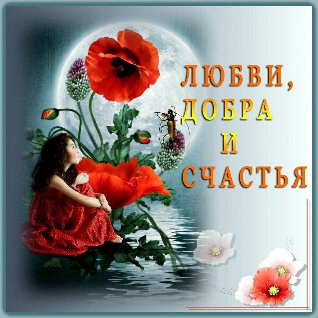 открытка даме желаю добра русский