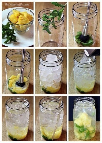 Рецепты приготовления полезной и вкусной воды из фруктов и трав.Соки, сладкая газировка, ... - 4