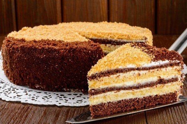 Вкусные домашние торты.1.Вкусный торт на скорую рукуИнгредиенты:Для теста: молоко – один стакан; ...