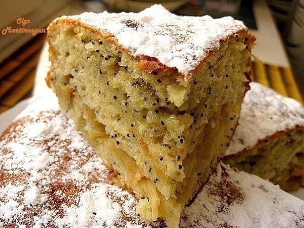 Яблочный пирог с маком.Очень вкусный пирог, а рецепт проще-простого.Для приготовления понадобится:-1 ...